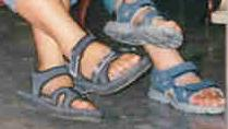 Good old comfy Kito sandals travelled with me to Toronto